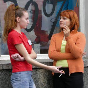 Nähe Metrostation Park Kultury, Moskau 2005
