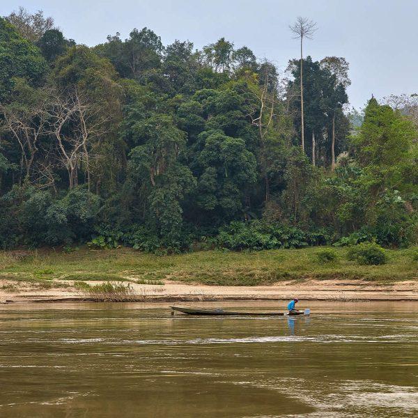 Mekong in Nordlaos, Laos, Februar 2018