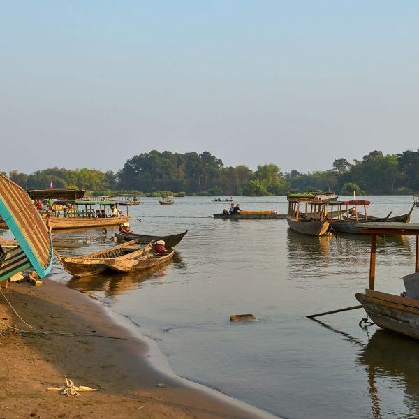 Mekong bei Si Phan Don, Laos, Februar 2018