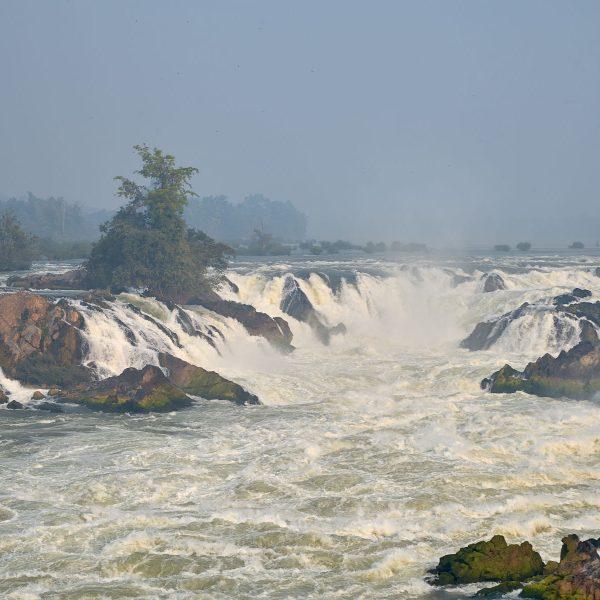 Mekong Wasserfall Khon Phapheng, Laos, Februar 2018