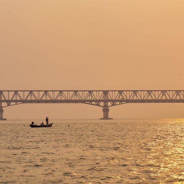 Brücke über den Than Lwin Fluss, Mawlamyine, Süd-Myanmar, März 2019
