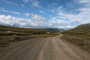 Straße 939 von oberhalb Djúpivogur nach Egilsstaðir (alte Straße 1), Island 2009