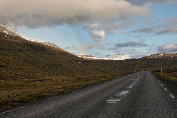 Straße Mjóafjarðarvegur (Nr. 953), Island 2009