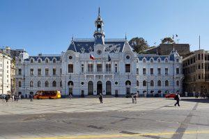 Valparaíso Stadtzentrum, Marineministerium, Chile, August 2016