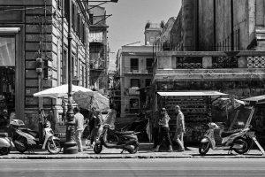 An der Via Roma mit Blick auf den Markt Vucciria, Palermo 2007