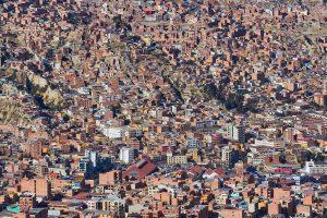 Blick von El Alto auf La Paz, Bolivien 2016