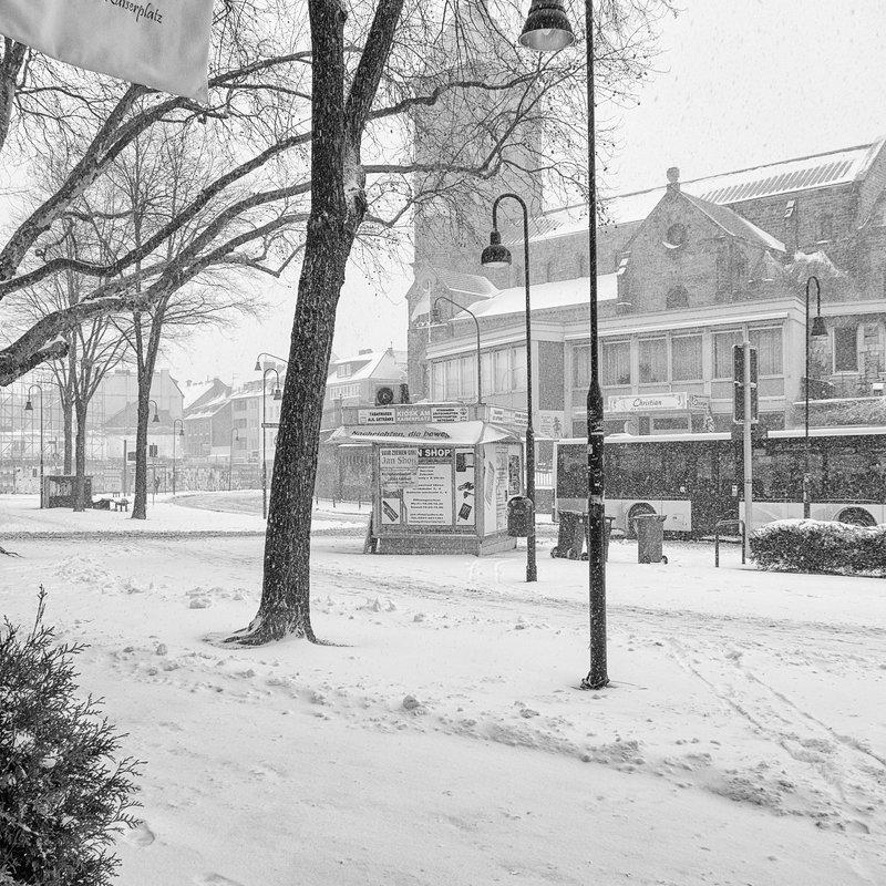 Wintereinbruch, Aachen März 2013