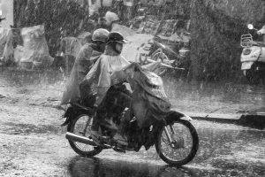 Monsunregen Saigon , Vietnam 2012