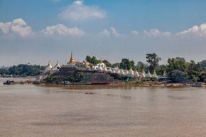 Irrawaddy River bei Mandaly, Myanmar Oktober 2015