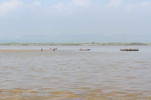 Sandbank im Irrawaddy River, Myanmar Oktober 2015