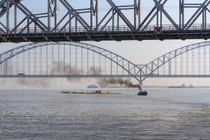 Brücke über den Irrawaddy, Myanmar Oktober 2015