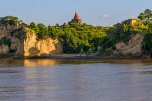 Irrawaddy River bei Bagan, Myanmar Oktober 2015